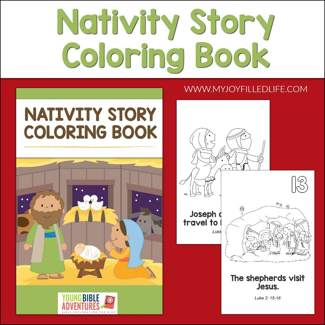 Nativity Story Coloring Book